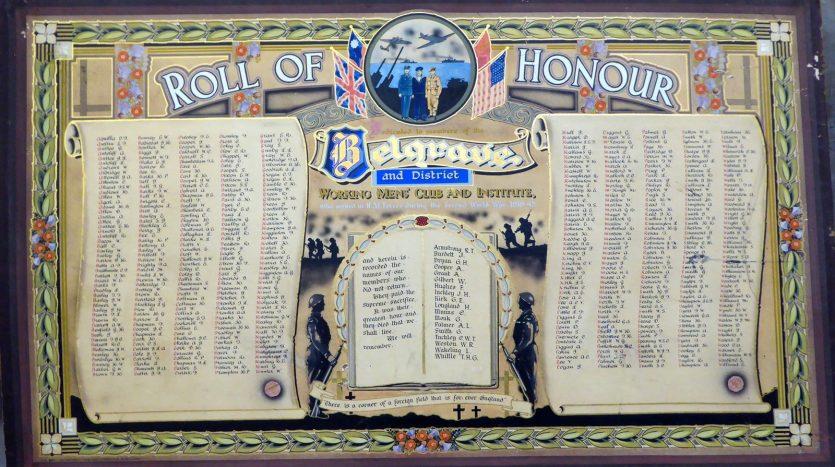 Belgrave War Memorial - Roll of Honour