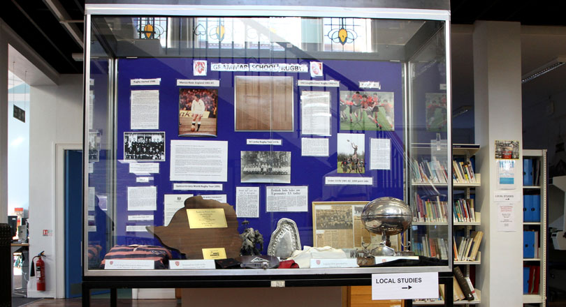 Rugby in Loughborough – Grammar School display