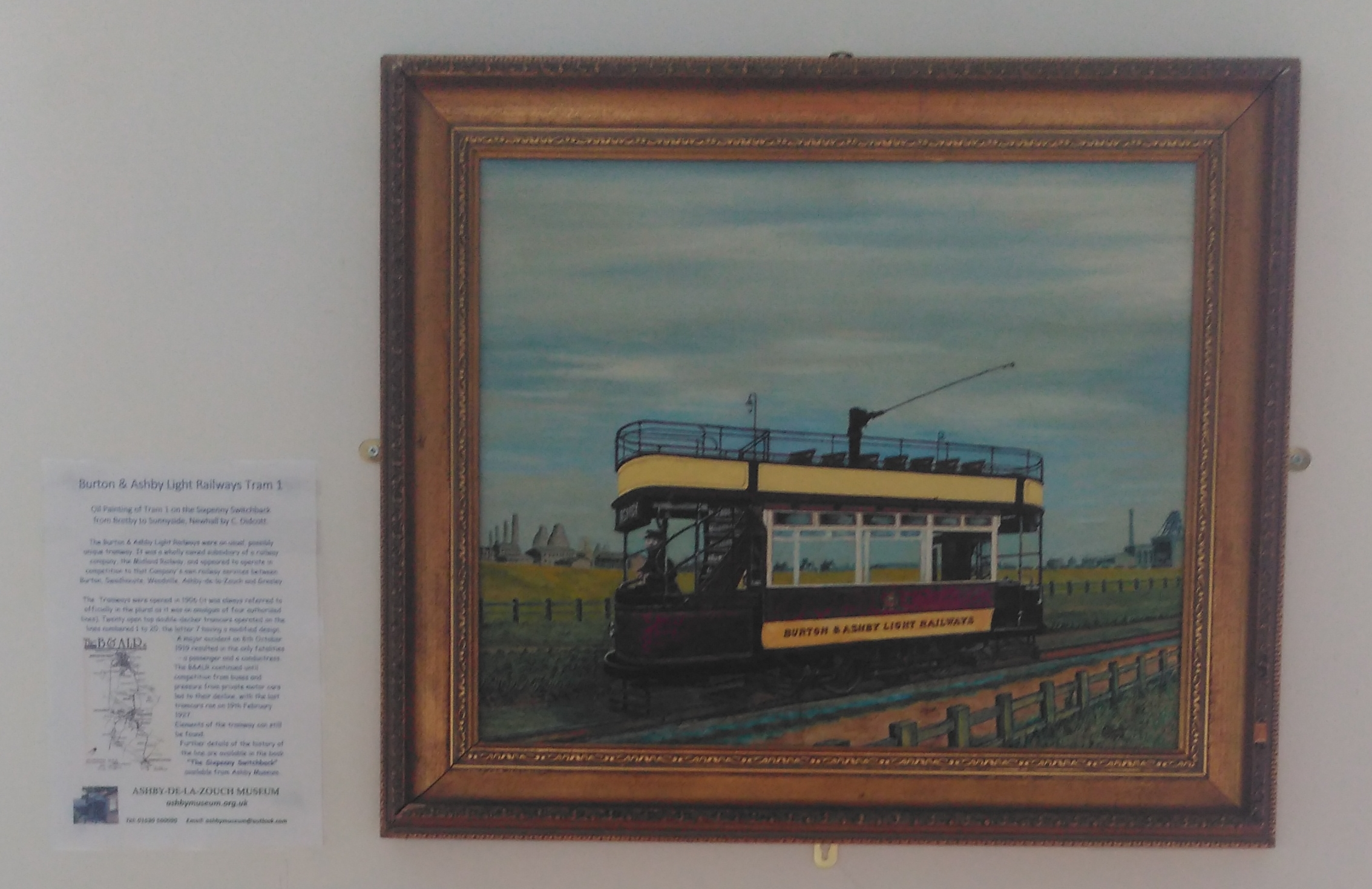 A tram from the Ashby and Burton Light Railway